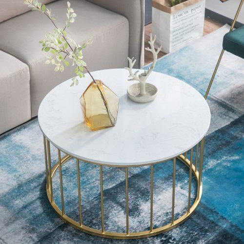 Bàn trà sofa tròn mặt đá Hera