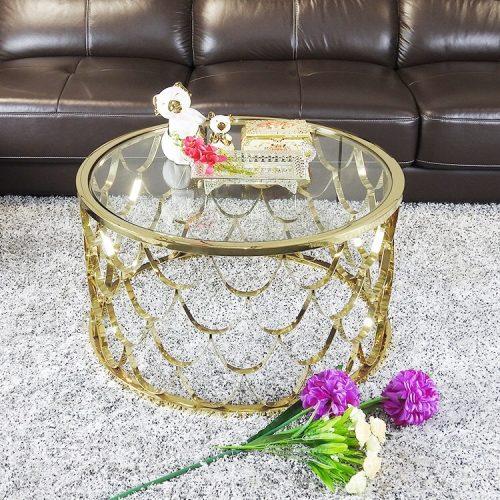 Bàn sofa inox cao cấp Popi