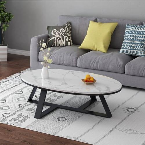 Bàn sofa Oval chân Z