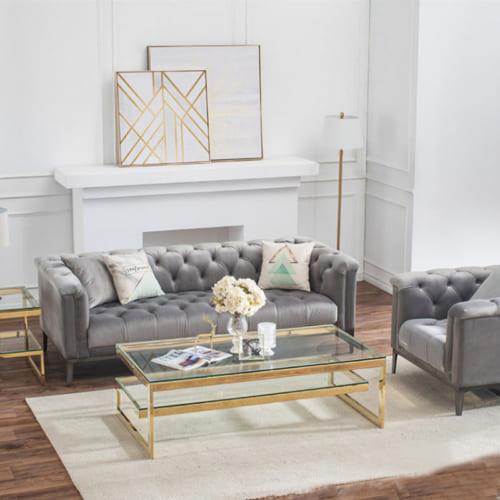 Bàn sofa inox Vô cực